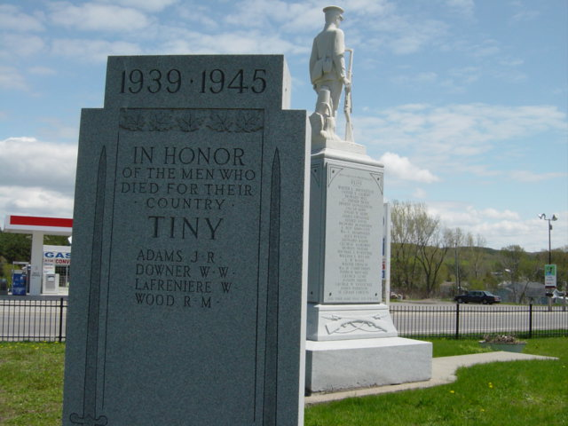 death records on Cenotaph Simcoe County