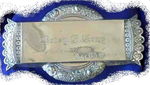 The Free Genealogy Death Record on the Coffin Plate of Betsy G Gray 1825 ~ 1888