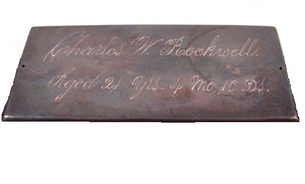 The Free Genealogy Death Record on the Coffin Plate of Charles W Rockwell