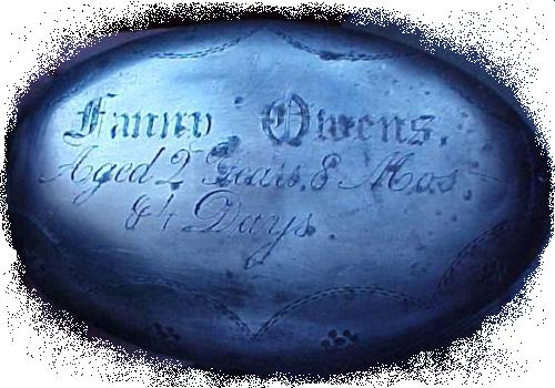 The Free Genealogy Death Record on the Coffin Plate of Betsey Brooks 1817~ 1905, Rebecca Starkie 1797~1868, Mary A Holden 1812~1874, Mary Thomas 1839~1859