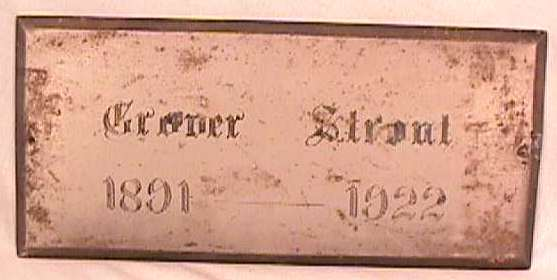 The Free Genealogy Death Record on the Coffin Plate of Grover Strout 1891 ~ 1922