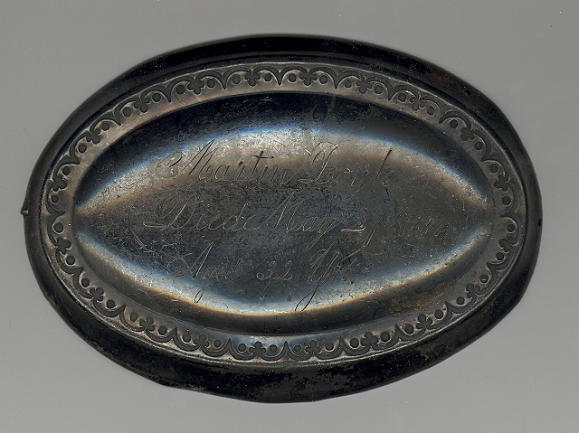 The Free Genealogy Death Record on the Coffin Plate of Martin Doyle 1852 ~ 1884