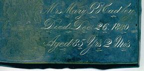 The Free Genealogy Death Record on the Coffin Plate of Anna J Roberts 1874 ~ 1926
