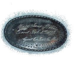 The Free Genealogy Death Record on the Coffin Plate of Mary Jane Wilde 1867 ~ 1873