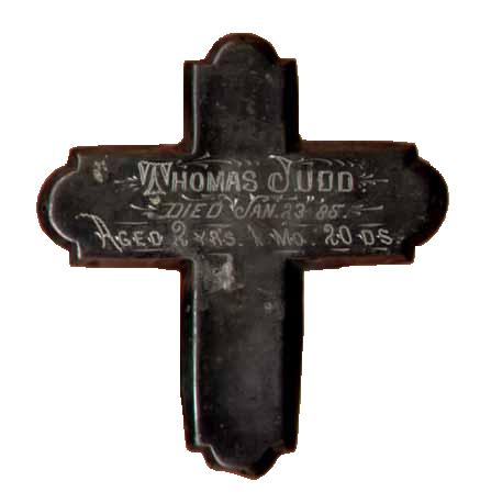 The Free Genealogy Death Record on the Coffin Plate of Thomas Judd 1882 ~ 1885