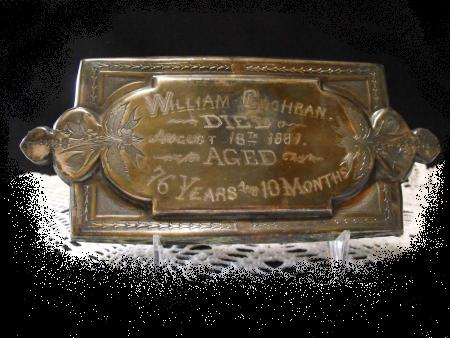 The Free Genealogy Death Record on the Coffin Plate of William Cochran 1805 ~ 1881