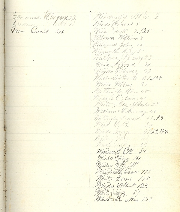 Rushford, Allegany County New York, Stacy and Kyes Ledger book