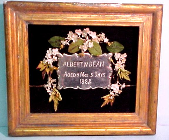 Birth & Death Record on the Coffin Plate of Albert W Dean