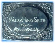 Birth & Death Record on the Coffin Plate of William Henry Smith