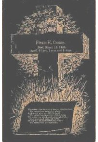 Funeral Card Hiram H. Crouse, died March 12, 1895