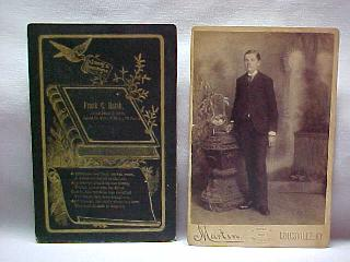 Frank Hatch funeral death card