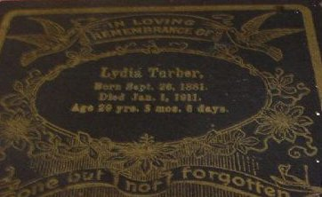 Funeral Card for Lydia Turber, 1881 - 1911